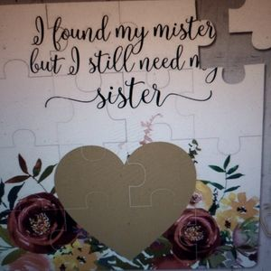 NWT Etsy Maid of Honor Proposal Puzzle for Sister